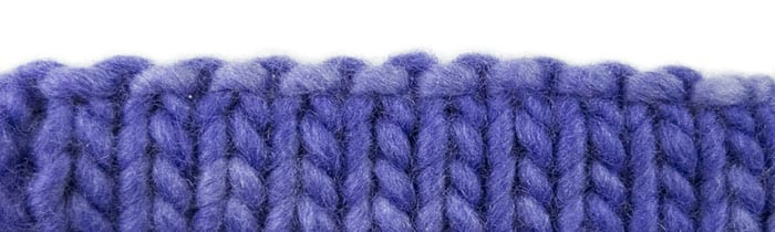 Picot Hem or Hemmed Edge Bind-Off Sample Swatch