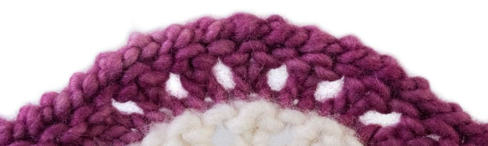 Frilled Standard Bind-Off on Lace (Feather and Fan)