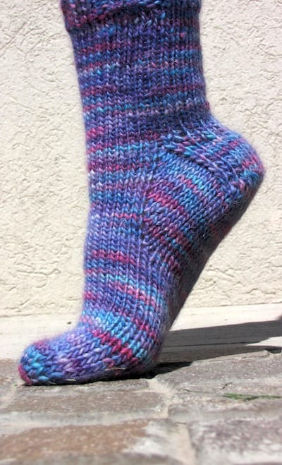 Worsted Weight Sock Pattern - Toe-Up/Top-Down | KnitFreedom