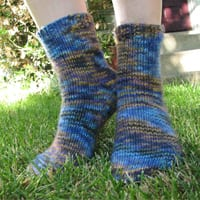 Malabrigo Twist toe-up socks