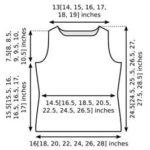 Knitting pattern sweater schematic measurements sq