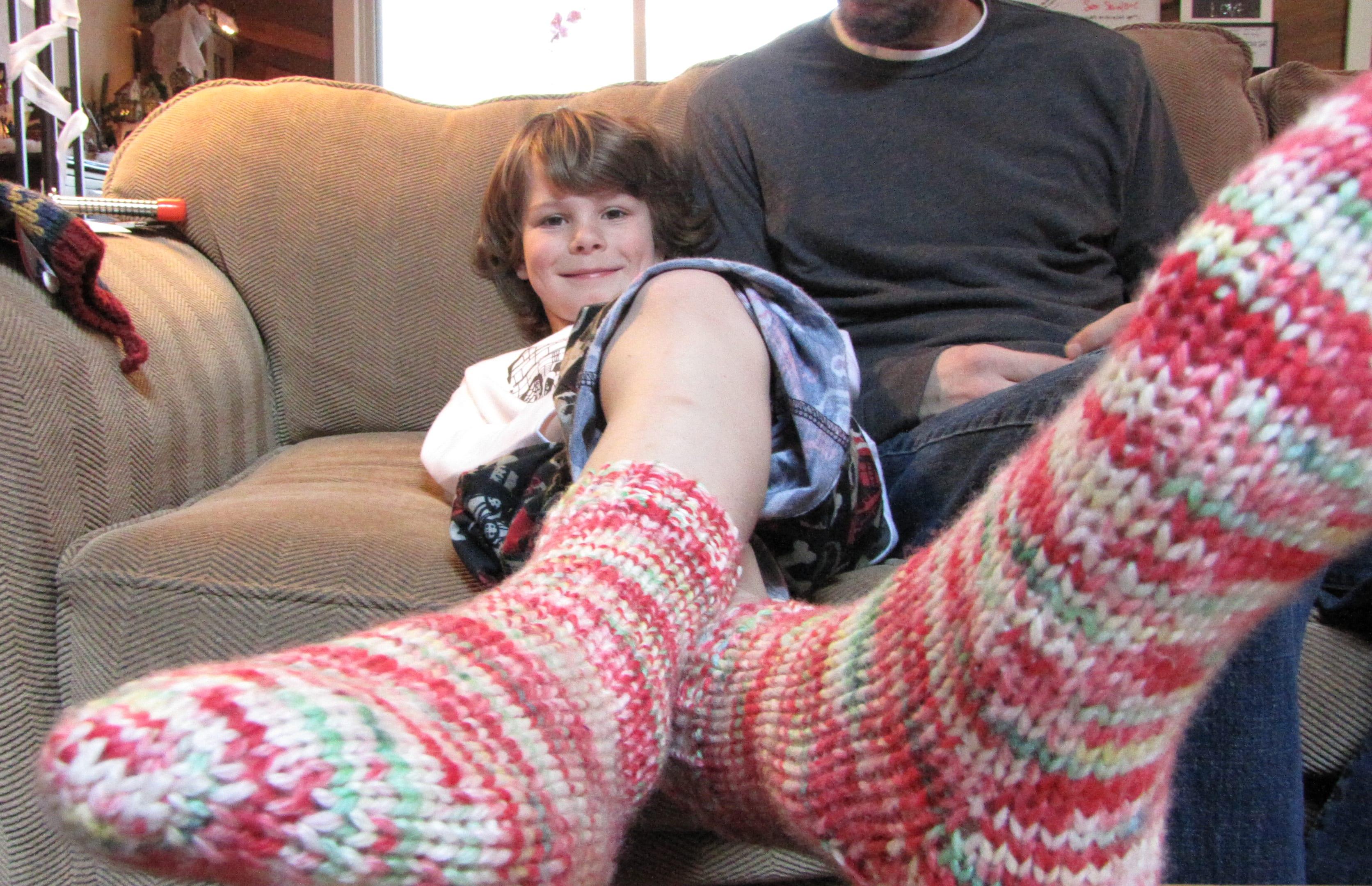 Bodhi with socks