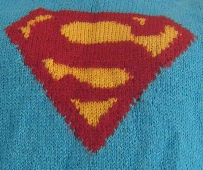 Superman knitted design