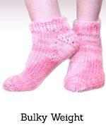 Pink bulky toe-up socks