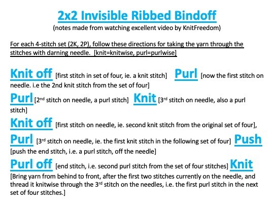 2x2 Invisible Ribbed Bindoff User Notes