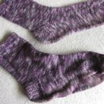 Unblocked and blocked sock together for comparison