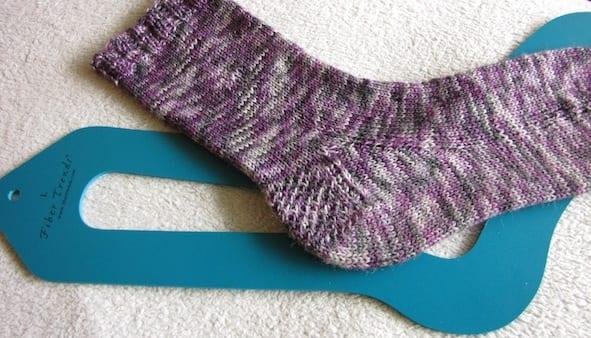 Sock and sock blocker together