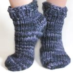 Super-Bulky Magic Loop Socks - Malabrigo Rasta - white background