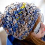 Easy Knit Hat Aspen Ice Hat side view close up
