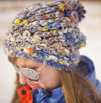 Aspen Ice Hat handspun hat pattern photo
