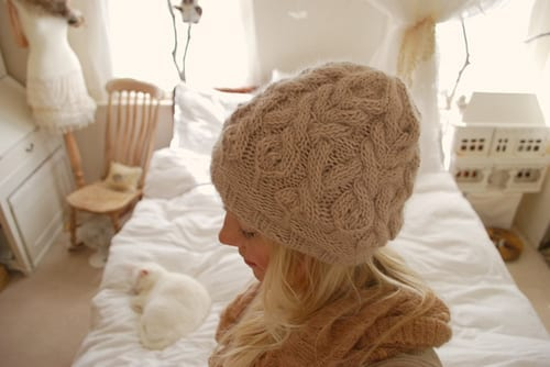 """""""Parseltongue"""" cabled hat"""