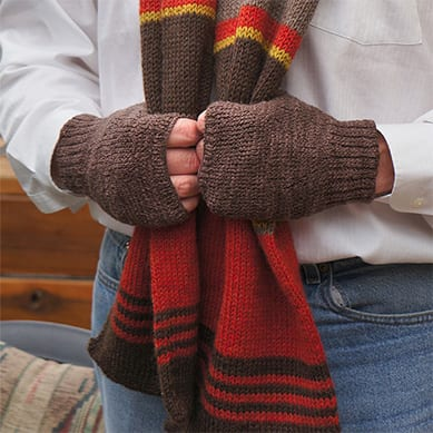 Go Anywhere Mitts in brown
