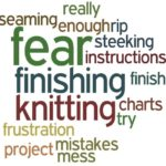 Word picture of people's different knitting fears