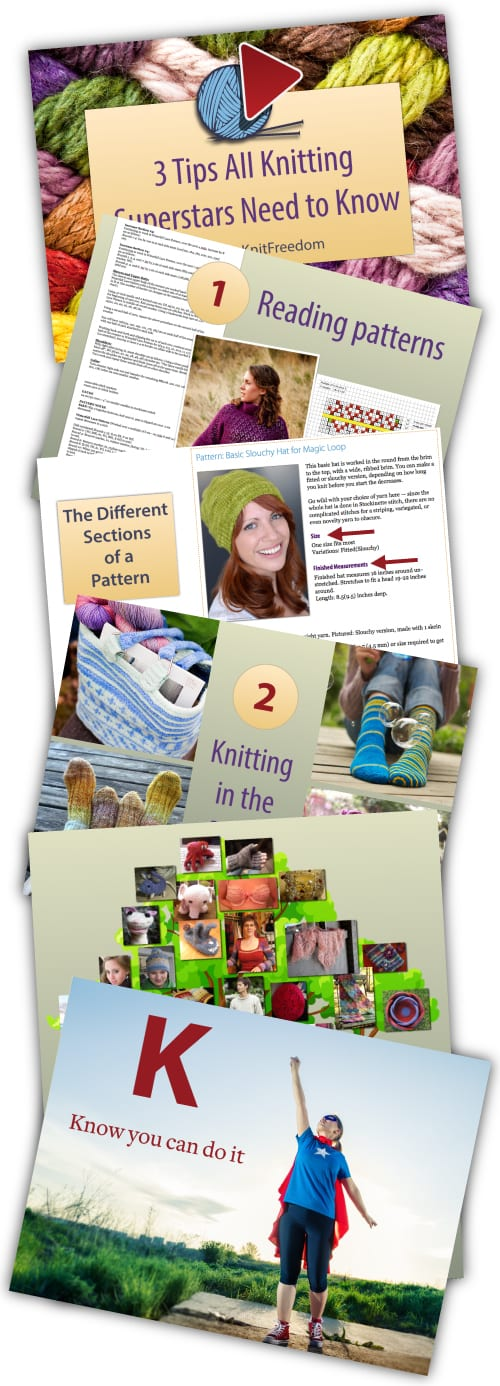 Graphics from the webinar 3 Tips Every Knitting Superstar Needs to Know