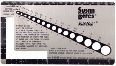 Susan Bates Knit-Chek Gauge Checker