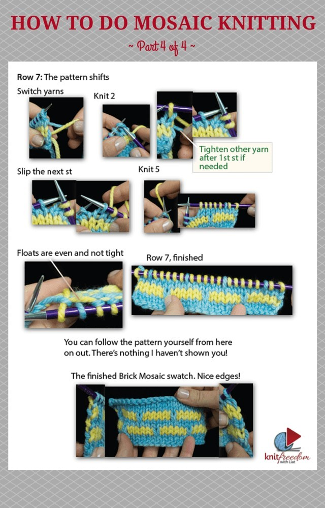 How to Do Mosaic Knitting – Easy Mosaic Brick Pattern, 4 of 4