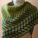 Mosaic knitting Dovetail shawl square