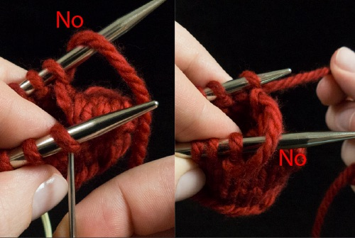 Kitchener Stitch Tips 1 Do not let the yarn come over the top of the needles 2
