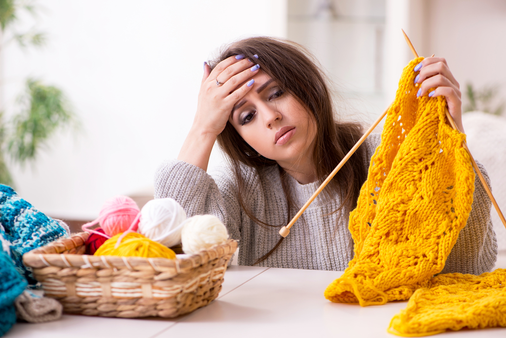 Frustrated knitter