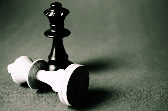chess piece knocked over