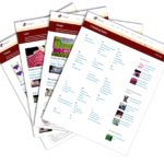 Array of knitting topics pages in a fan - KnitFreedom