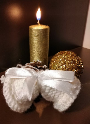 Christmas Bells with candle